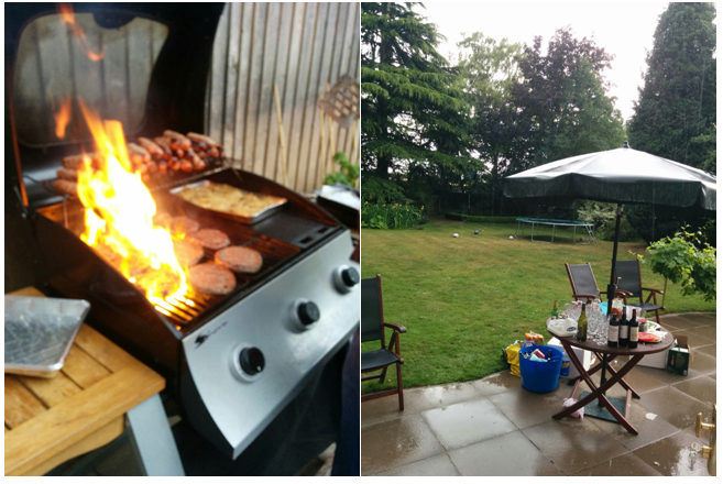 "Figure 10: A proper British ""Summer"" BBQ in the rain."