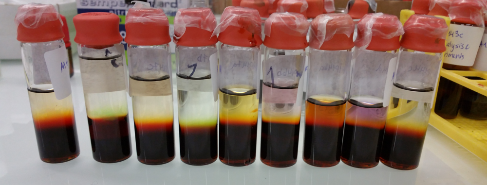 Figure 6: Either layered reactions or bottled sunrise.